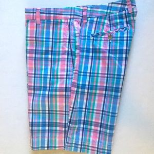 Vineyard Vines Men's Plaid Pink Shorts Size 36